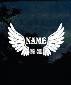 In loving memory decal sticker Angel wings a6
