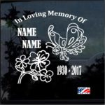 Butterfly In Loving Memory Window Decal Sticker