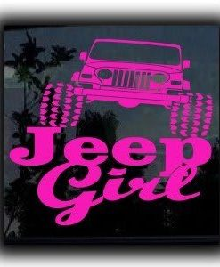 Jeep Girl Vinyl Decal Stickers