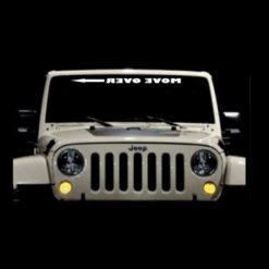 Jeep Move Over Arrow Windshield BJeep Move Over Arrow Windshield Banner Decal Stickeranner Decal Sticker