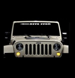 Jeep Move Over Arrow Windshield BJeep Move Over Arrow Windshield Banner Decal Stickeranner Decal Sticker