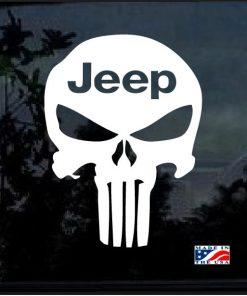 Jeep Punisher Skull Window decal sticker