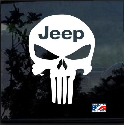 Jeep Punisher Skull Window decal sticker