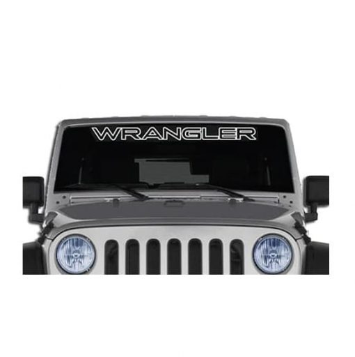 Jeep Wrangler Windshield Banner Decal Sticker outlined
