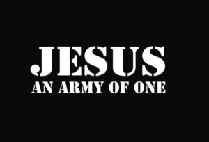 Jesus Army Of One Decal Sticker - https://customstickershop.us/product-category/religious-stickers/