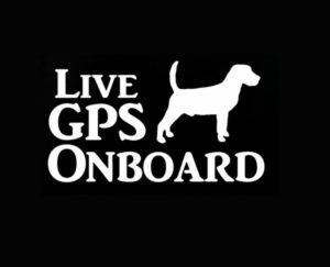 Live Gps On Board Hunting dog decal - https://customstickershop.us/product-category/animal-stickers/