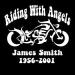 Motorcycle In Loving Memory Window Decal Sticker
