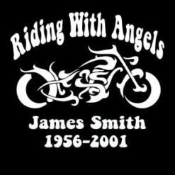 Loving Memory Decals Motorcycle