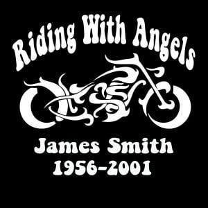 In Loving Memory Car Decals >> Motorcycle In Loving Memory Window Decal Sticker