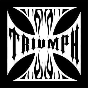 Maltese Cross Triumph Vinyl Decal Stickers
