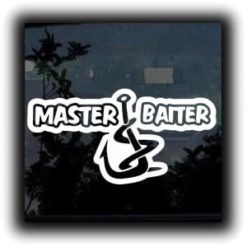 Master Baiter Funny Fishing Vinyl Decal Stickers a2