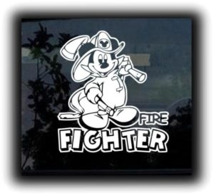 Mickey Mouse Fireman Decal Sticker - https://customstickershop.us/product-category/stickers-for-cars/