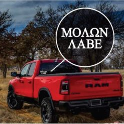 Molon Labe Truck Window Decal Sticker
