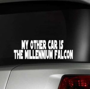 Other car Millennium Falcon Decal - https://customstickershop.us/product-category/stickers-for-cars/