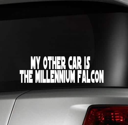 Other Car Millennium Falcon Car Window Decal Sticker Custom - Custom car window stickers
