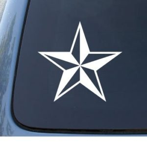 Nautical Star Window Decal Sticker - https://customstickershop.us/product-category/stickers-for-cars/