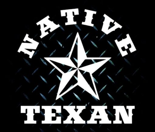 Native Texan Window Decal Sticker - https://customstickershop.us/product-category/stickers-for-cars/