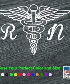 Nurse Caduceus RN Nurse Vinyl Decal Stickers