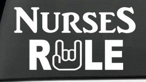 Nurses Rule Rn LPN Decal Sticker - https://customstickershop.us/product-category/career-occupation-decals/