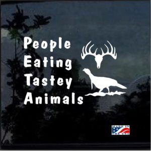 PETA People eating tasty animals decal sticker