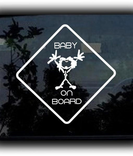 Pearl Jam Baby On Board Decal Sticker - https://customstickershop.us/product-category/music-decals/