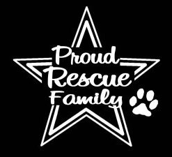 Proud Animal Rescue Family Decal - //customstickershop.us/product-category/career-occupation-decals/