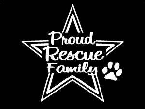 Proud Animal Rescue Family Decal - https://customstickershop.us/product-category/career-occupation-decals/