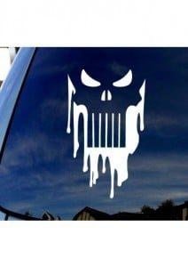 Punisher Skull Dripping vinyl window decal sticker