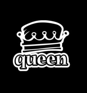 Queen Crown Window Decal Sticker - https://customstickershop.us/product-category/stickers-for-cars/