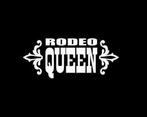 Rodeo Queen Window Decal Sticker - Rodeo Queen Window Decal Sticker