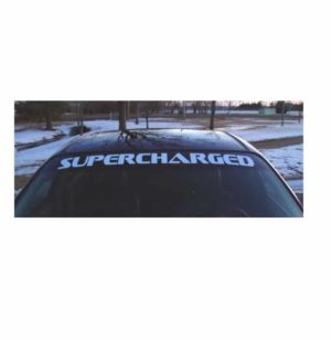 Pontiac Supercharged Windshield Decals - https://customstickershop.us/product-category/windshield-decals/