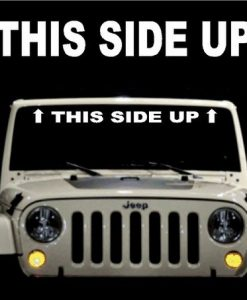 This Side Up Jeep Windshield Decals - https://customstickershop.us/product-category/windshield-decals/