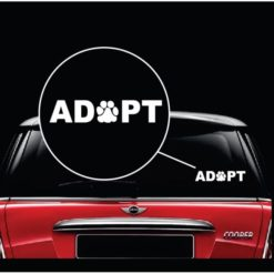 adopt dog paw pet window decal sticker