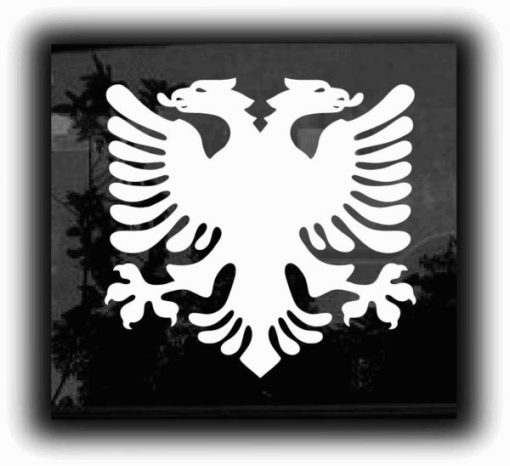 Albanian Eagle Stickers for Cars - https://customstickershop.us/product-category/stickers-for-cars/