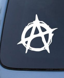 Anarchy Symbol Stickers for Cars - https://customstickershop.us/product-category/stickers-for-cars/