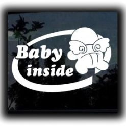 Baby Inside Wings Decal Sticker - https://customstickershop.us/product-category/baby-decal-stickers/
