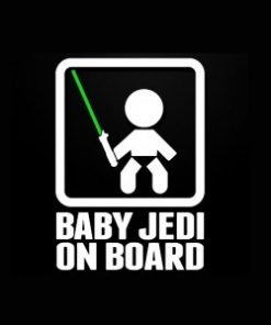 Baby Jedi On Board Decal Sticker - https://customstickershop.us/product-category/baby-decal-stickers/