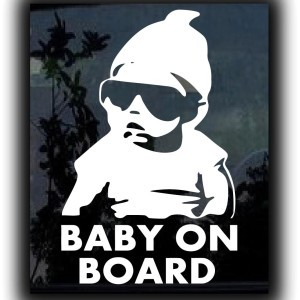 Hangover Baby On Board Decal Sticker - https://customstickershop.us/product-category/baby-decal-stickers/