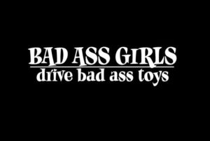 Bad Ass Girls Stickers for Cars - https://customstickershop.us/product-category/stickers-for-cars/