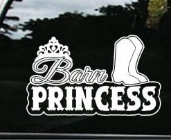 Barn Princess Window Decals - //customstickershop.us/product-category/western-decals/