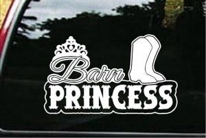 Barn Princess Window Decals - https://customstickershop.us/product-category/western-decals/