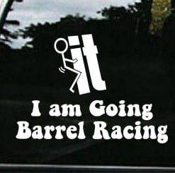 Screw it going Barrel Racing Decal - https://customstickershop.us/product-category/western-decals/