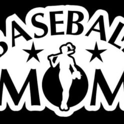 Baseball Mom Girl Decal Sticker - https://customstickershop.us/product-category/family-sports-stickers/