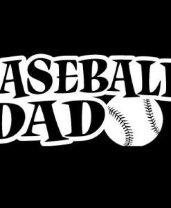 Baseball Dad Decal Sticker - //customstickershop.us/product-category/family-sports-stickers/