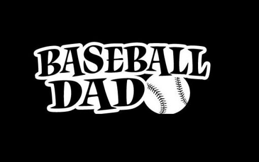 Baseball Dad Decal Sticker - https://customstickershop.us/product-category/family-sports-stickers/