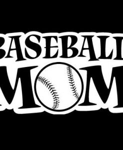 Baseball Mom III Decal Sticker - //customstickershop.us/product-category/family-sports-stickers/