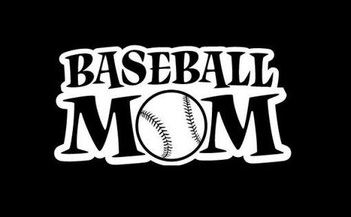 Baseball Mom III Decal Sticker - https://customstickershop.us/product-category/family-sports-stickers/