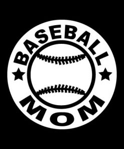 Baseball Mom Round Decal Sticker - https://customstickershop.us/product-category/family-sports-stickers/