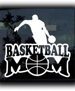 Basketball Mom Decal Sticker - //customstickershop.us/product-category/family-sports-stickers/
