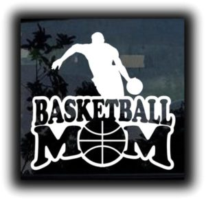 Basketball Mom Decal Sticker - https://customstickershop.us/product-category/family-sports-stickers/